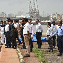 10th Aug'19- Reviewed the port logistics at Mumbai Port Trust today