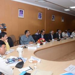 16th Aug'19- Reviewing the existing & ongoing projects at Mangalore Port Trust