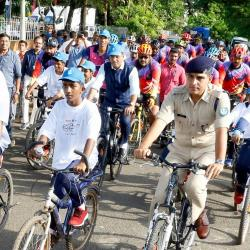 20th Sept'29- Cochin Port Trust -Swachta Pledge & flagged off cycle rally by Hon'ble Minister