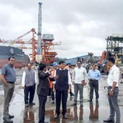 26th Sept'19- Inpection of Mormugao Port, Goa by Hon'ble Minister