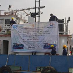 First ever movement of container cargo