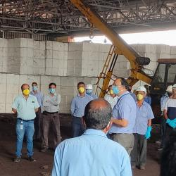 Coronavirus awareness briefing measures at Kolkata Port