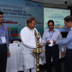 Lighting of the lamap ceremony by Hon'ble Member of Parliament Sh.Bishnu Pada Ray at the inaguration of the workshop