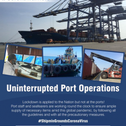 Lockdown is applied to the Nation but not at the ports! Port staff and seafearers are working round the clock to ensure ample supply of necessary items amid this global pandemic, by following all the guidelines and with all the precautionary measures.