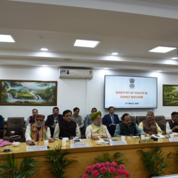 The high level Group Of Ministers (GOM) on #COVID19 met today to review and monitor the status, actions taken, and preparedness for its management. Union Health Minister @drharshvardhan chaired the meeting at Nirman Bhawan.