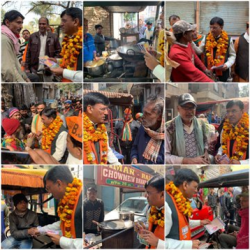 """Go house to house, win BJP, feed lotus in Delhi"" As part of the mass-public relations campaign, Vard-37N of Mundka Assembly in Delhi went door-to-door with the public today."