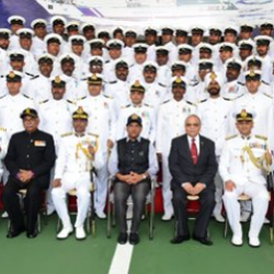 Attended the commissioning ceremony of OPV-5, #Varad at Kattupalli in Chennai
