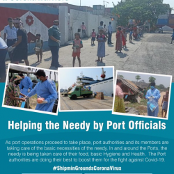 Attending the needy in & around the ports, supplying basic necessities to them, the Port authorities are boosting them, by all available means, in the fight against #Covid19.