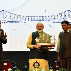 Prime Minister Shri Narendra Modi Announcing Ship Repair Facility of Cochin Kolkata Ship