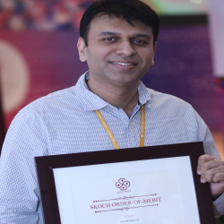 Sh. Abhishek Chandra, Deputy Secreatry( Sagarmala) with the 'Order of Merit' for Sagarmala Programme