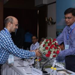 Sh.D K Rai, Director, Sagarmala welcoming Joint Secretary (Sagarmala) Sh. Kailash Kumar Aggarwal