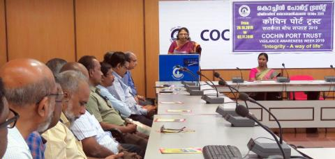 Vigilance Awareness Week 2019 at India_s Major Ports (Cochin Port Trust)