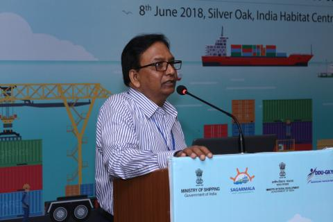 Sh.Sharda Prasad, Advisor speaking to the delegates at the
