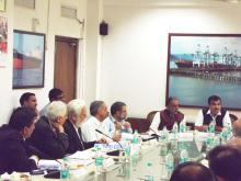 Minister meeting with Ship Builders