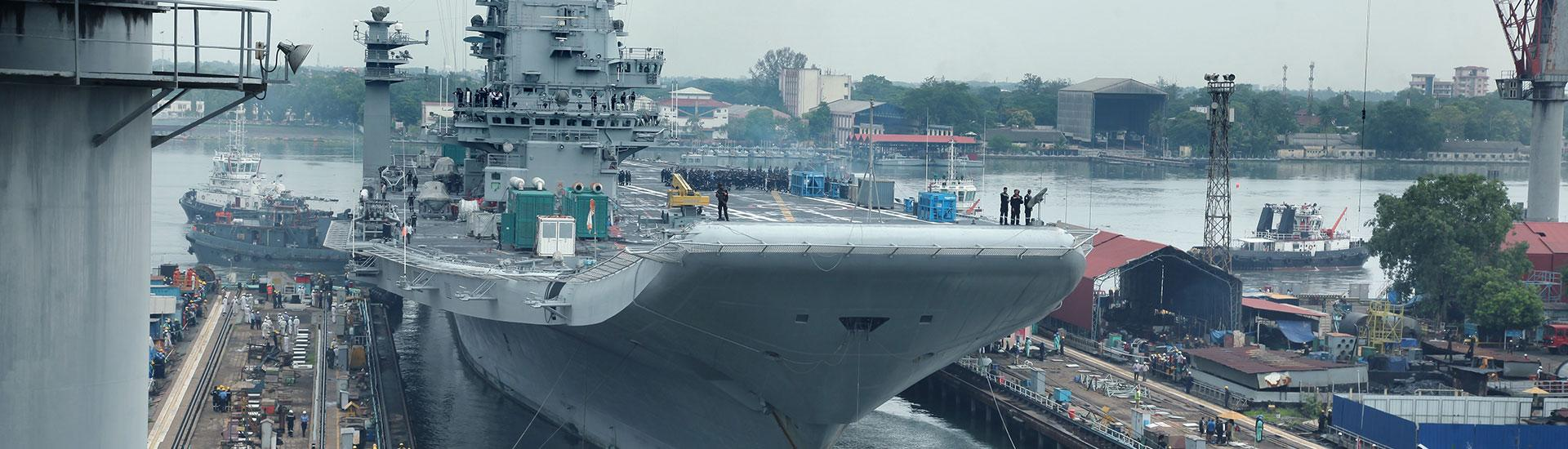INS Vikramaditya docked in CSL for repair